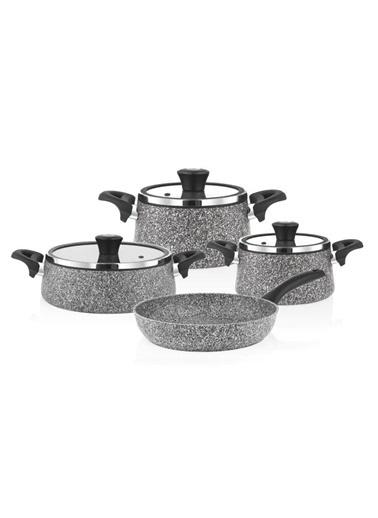 Taç Mutfak tac-prızma2 Taç Granit Plus Prizma 7 Parça Tencere Seti Pembe